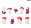 "« Bandana (Buff) » Style Double Layer Multifunctional Headwear Seamless 9-1/2"" x 19-1/2"""